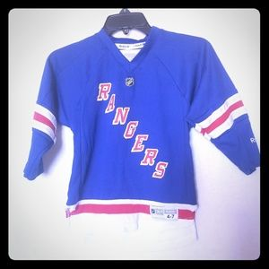 LICENSED REEBOK NHL RANGERS YOUTH JERSEY